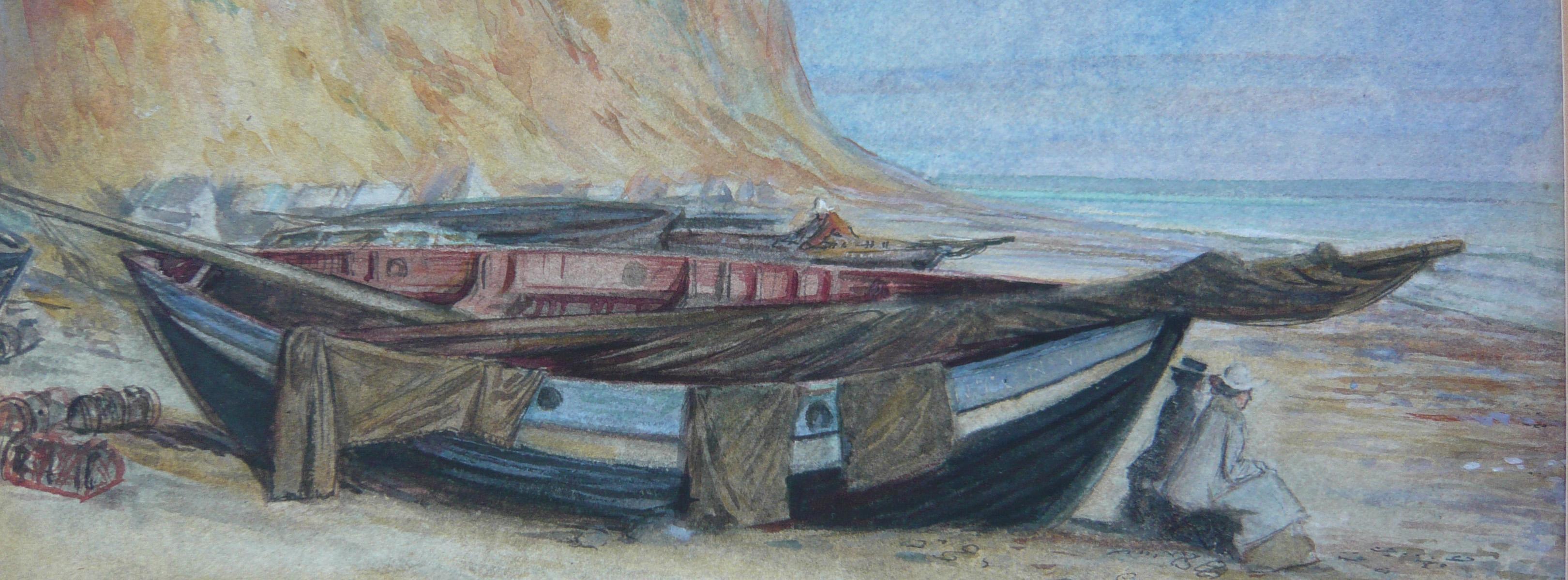 paper conservator watercolour Herbert Cole boats