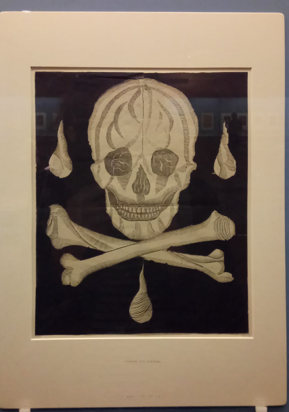 French woodcut, paper conservation, Halloween