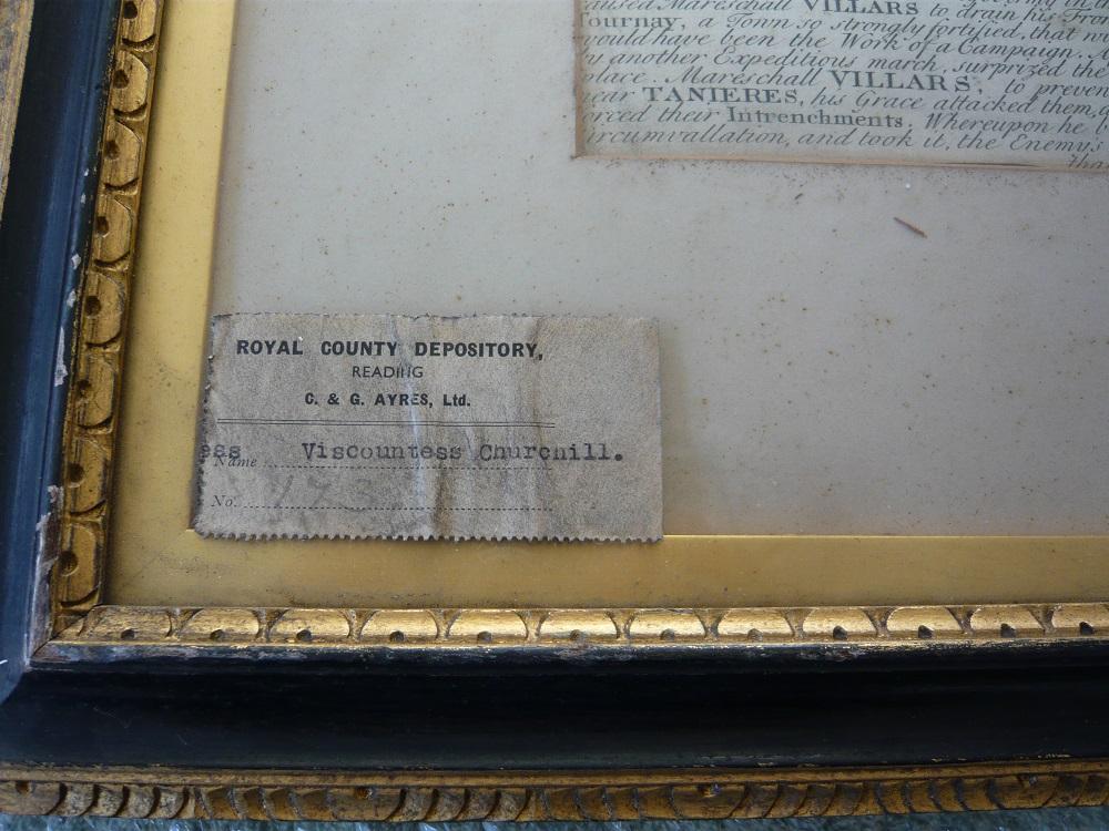 Label on frame